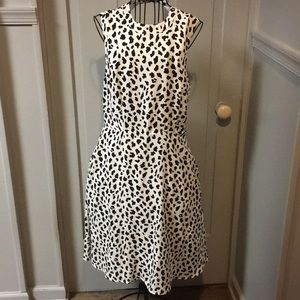 June & Hudson Dalmatian Print Open Back Dress